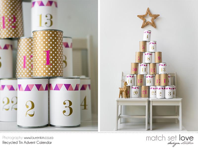 Recycled Tin Advent Calendar 4