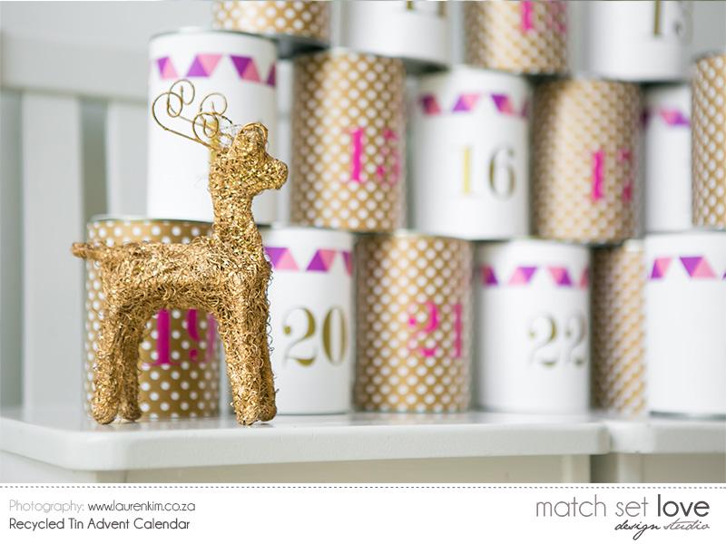 Recycled Tin Advent Calendar 5