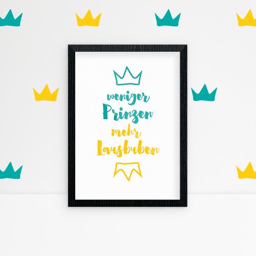 Comob Weniger Prinzen Turquoise and crowns
