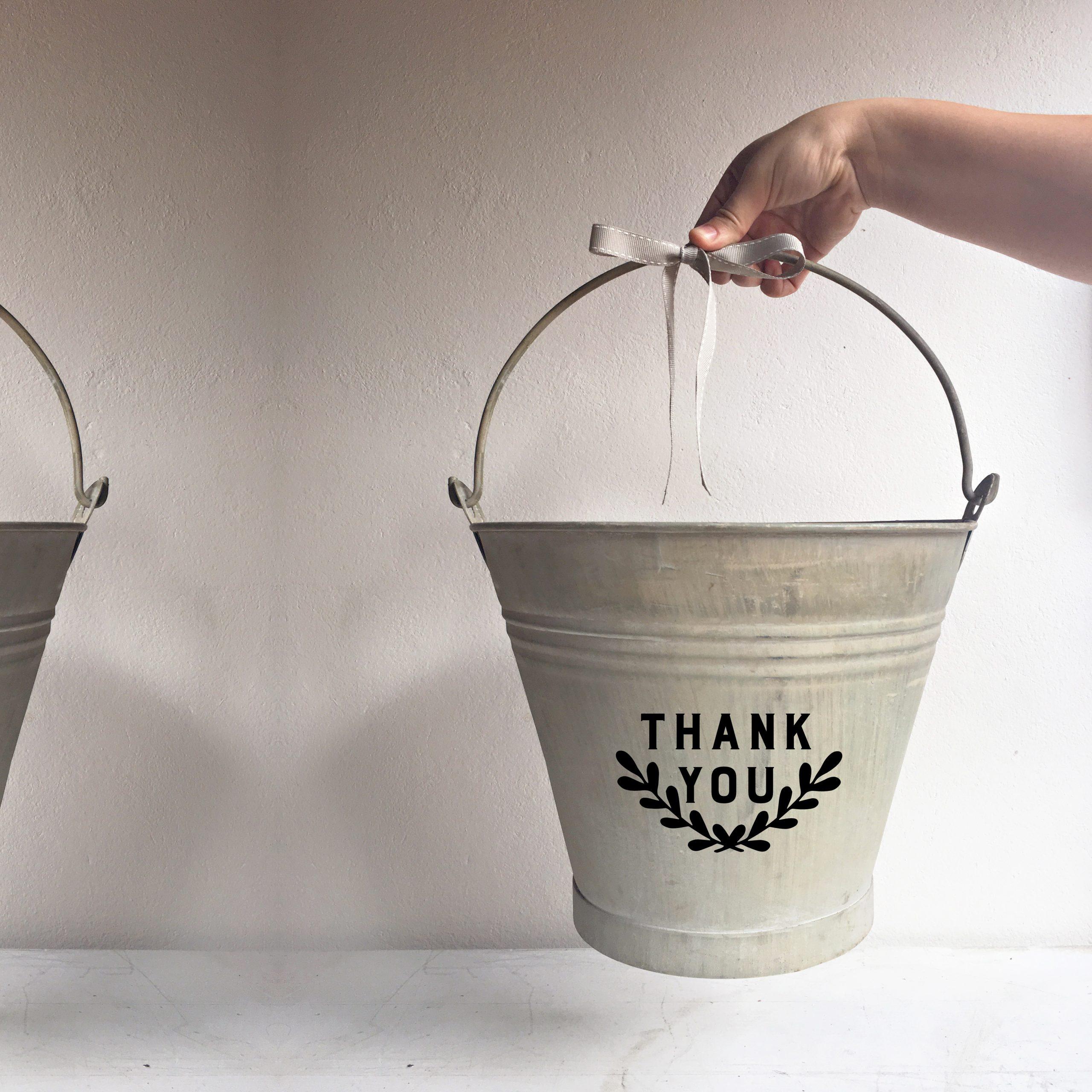 Bucket Thank you wreath