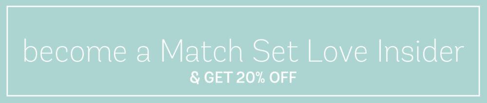 match set love VIP discount code header
