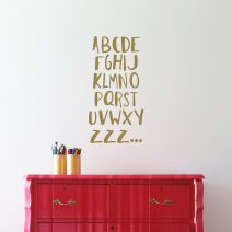 Alphabet Wall Decals,
