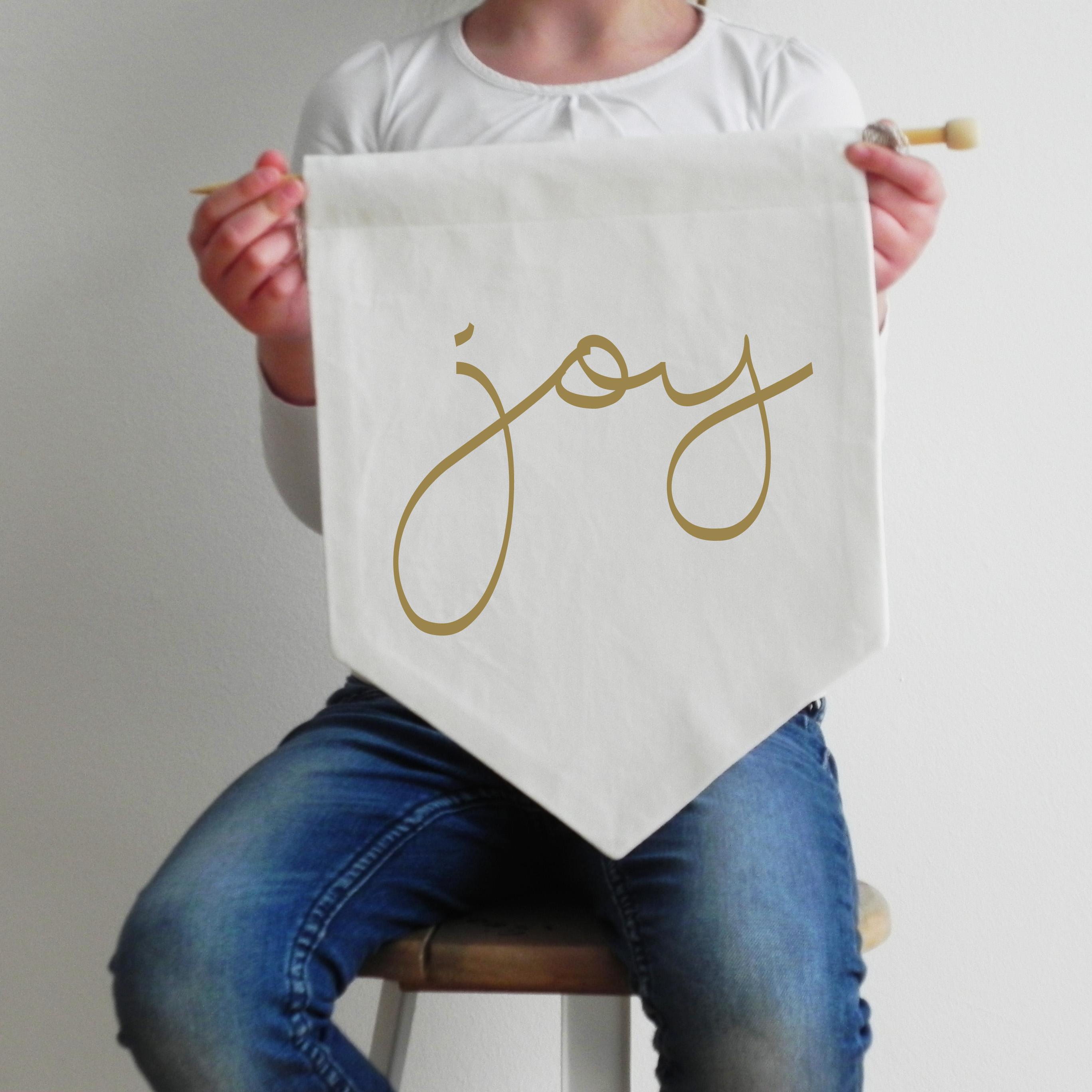 Wall Flag Joy Gold