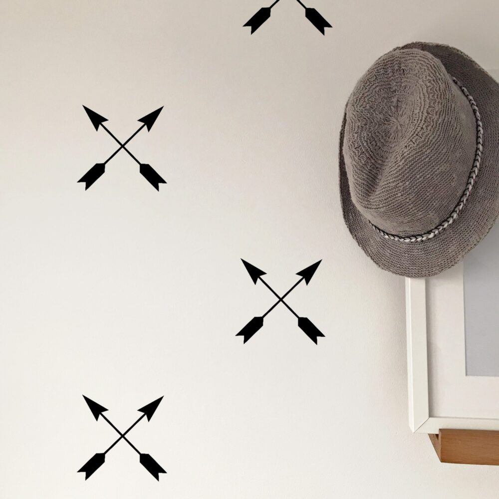 Crossed arrow walls decals black
