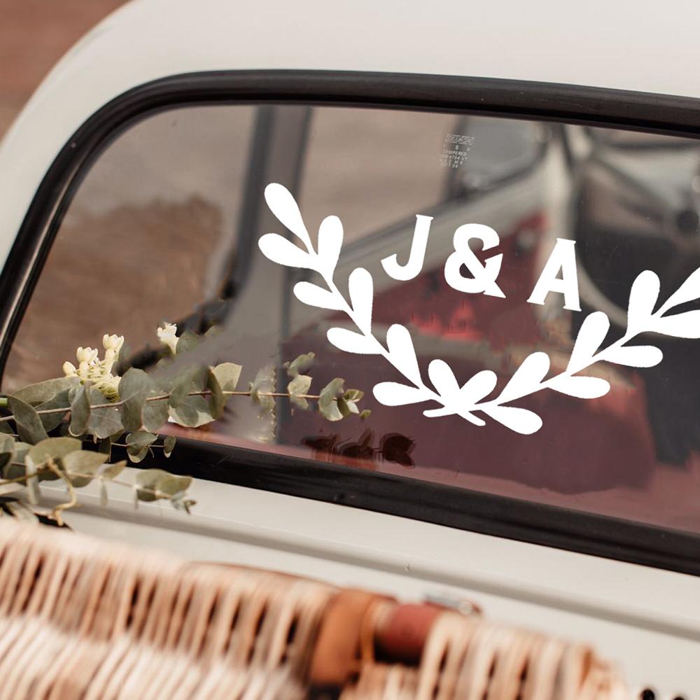 Custom 1 monogram wreath 1 square