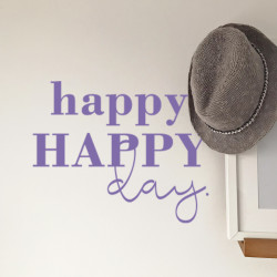 Hat Wall happy happy day lavender