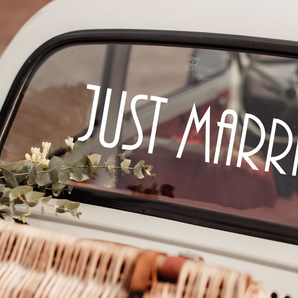 Font 2 Just Married 1 square