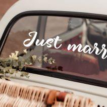 Just Married Wedding Car Window Stickers