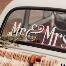Mr & Mrs Wedding Car Window Stickers