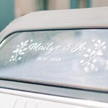 Custom Window Sticker - Personalized Wedding Car Decals