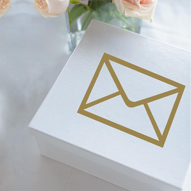 LR Wedding Gift Box Envelope Gold