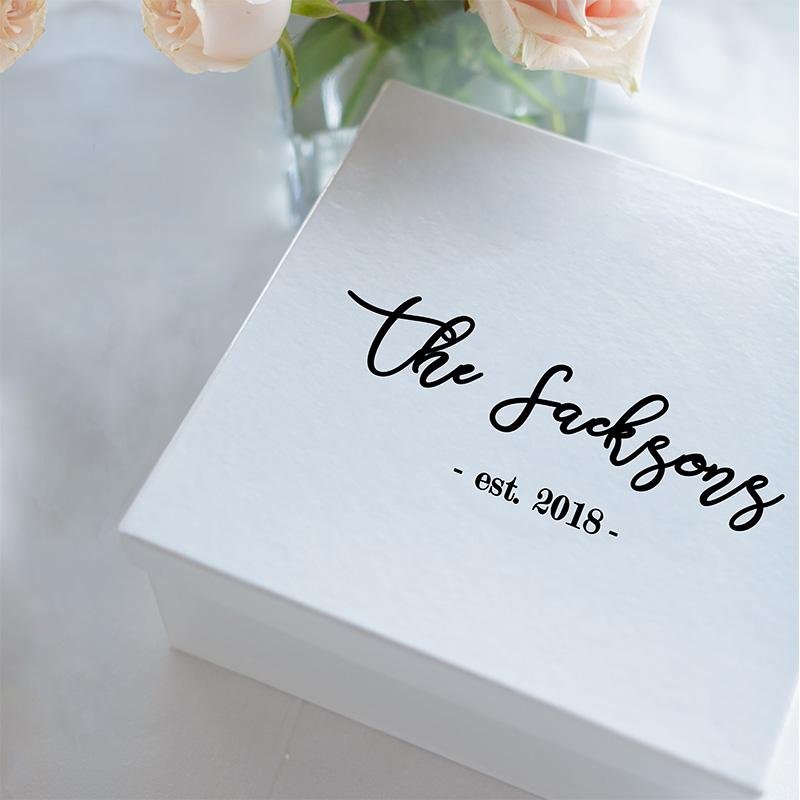 LR Wedding Gift Box Sticker custom 4