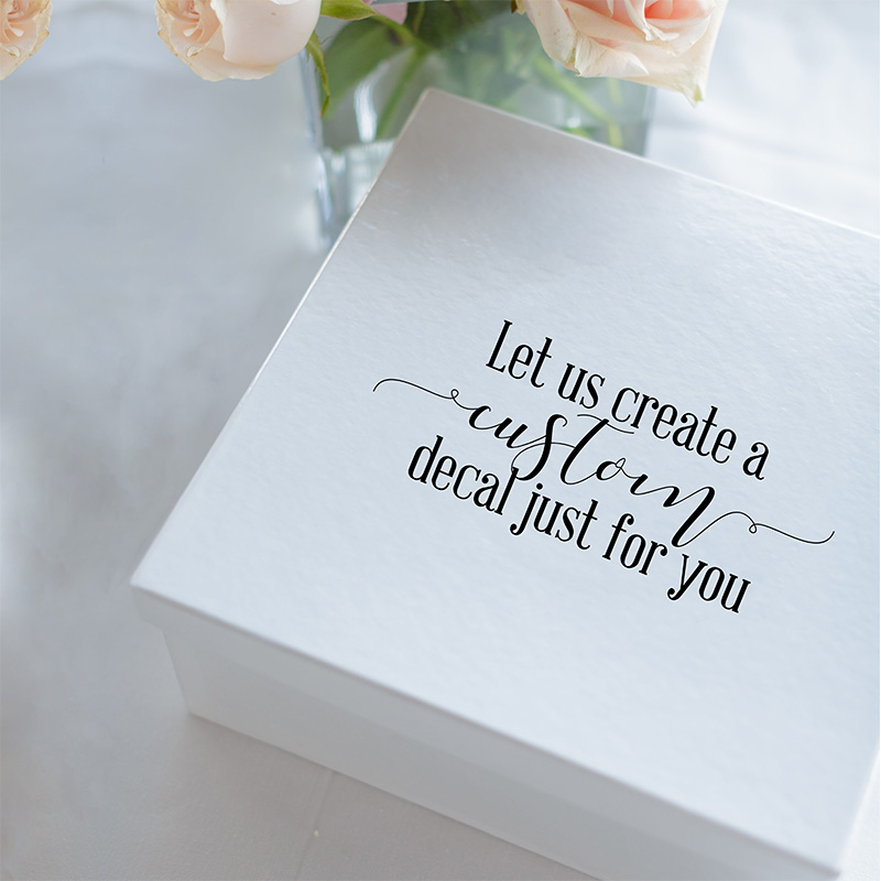 Wedding Gift Box Sticker Custom LR