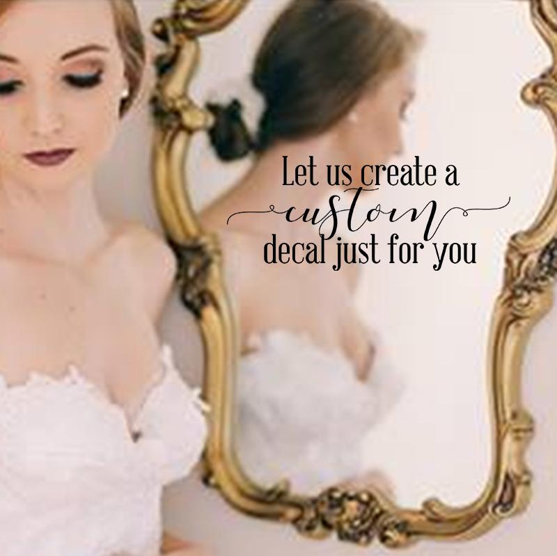 LR Custom wedding decal