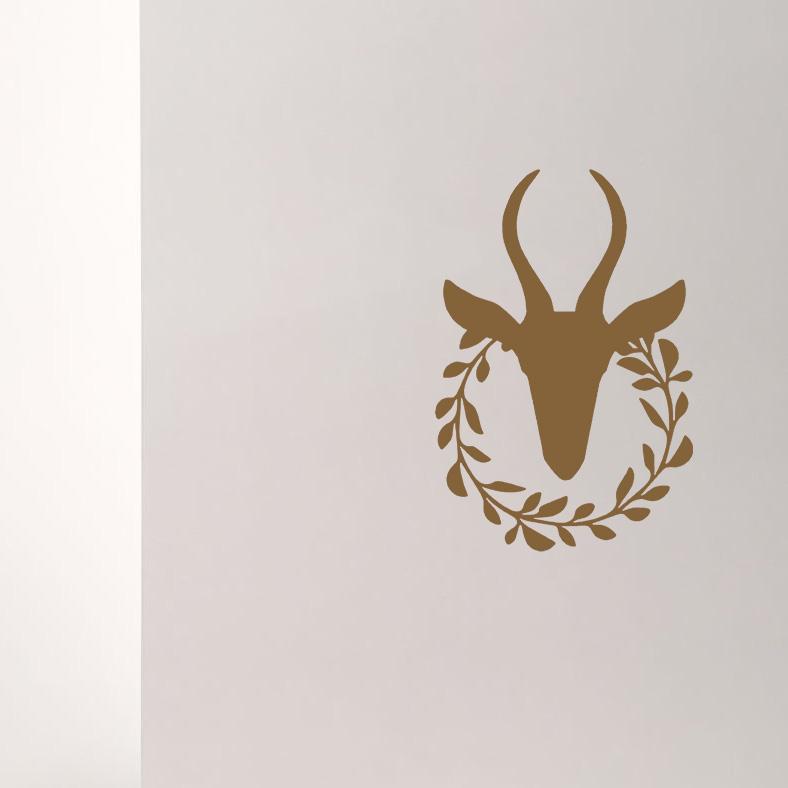 LR Antelope wreath copper