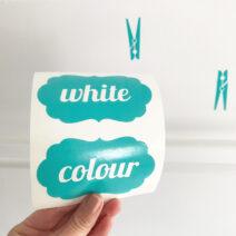 Washing Powder Laundry Stickers