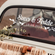 wedding car window decal