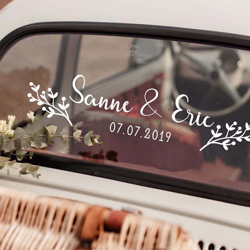 LR wedding car sticker option 11 winterberries 2