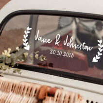 Romantic Hearts Wedding Car Window Decal