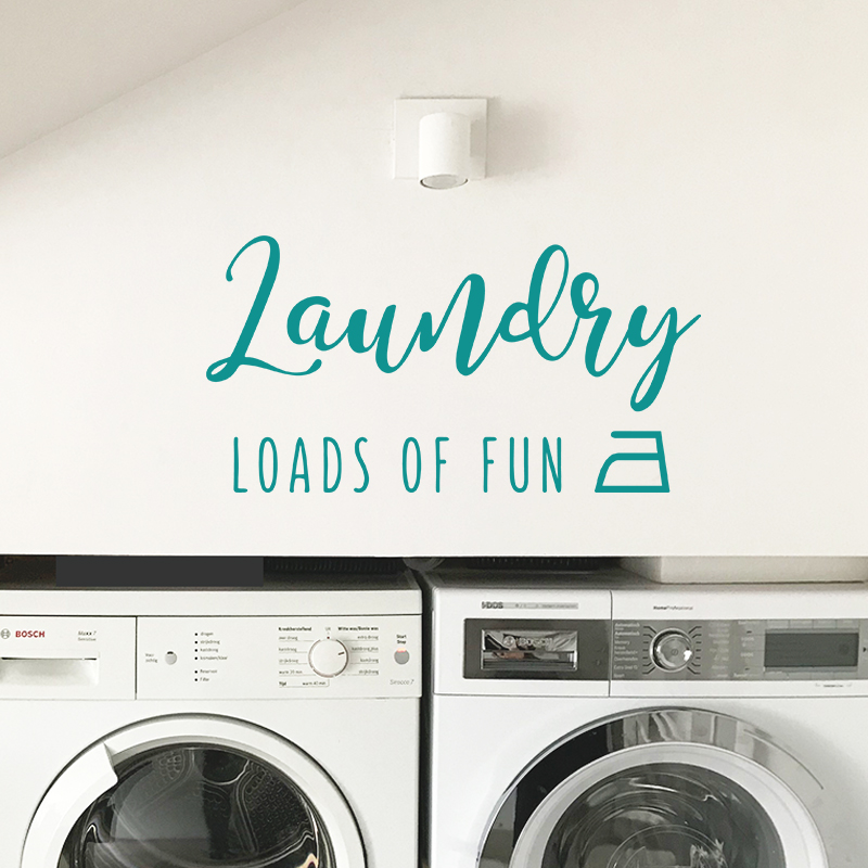 Laundry loads of fun turquoise