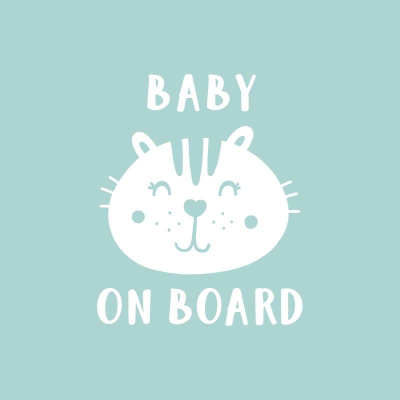 Baby on board cat 0