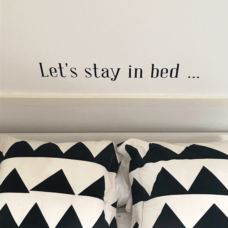 Lets stay in bed 1